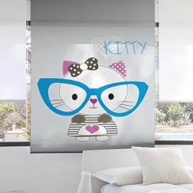 Estor Enrollable KITTY de Zebra textil