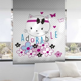 Estor Enrollable ADORABLE de Zebra textil