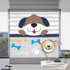 Estor Enrollable WOOF DOG de Zebra textil