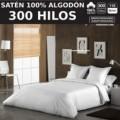 Juego de funda nórdica SATEN 300H. 100% algodón (300 hilos). Es-Tela
