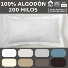 Funda de cojín COMBI LISO 200H. 100% algodón (200 hilos). Es-Tela