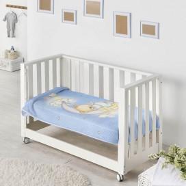Manta infantil estampada 6375 OSITO LUNA