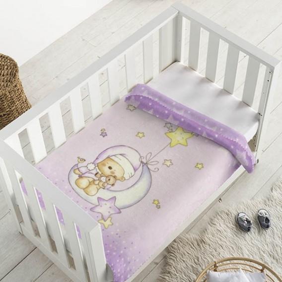Manta infantil estampada 6376 OSITA LUNA
