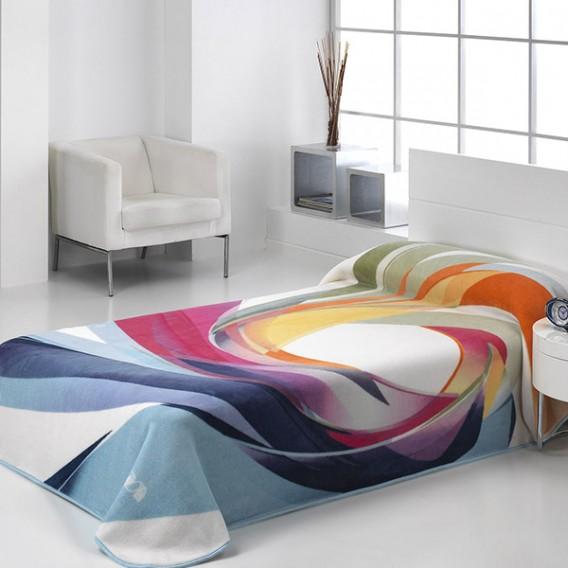 Manta Estampada HARMONY 153 de Textiles Mora V.Hogar