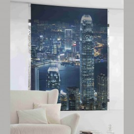 Estor Digital SKYSCRAPERS NIGHT U-538 by Zebra Textil para decorar el hogar