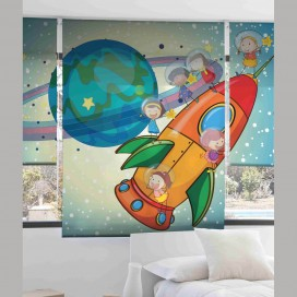 Estor Digital Infantil SPACE ROCKET I-2060 by Zebra Tex. V.Hogar