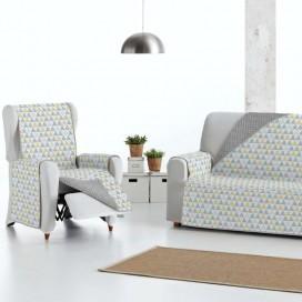Funda cubre sofá Acolchada Reversible NORDIC de Eysa V.Hogar