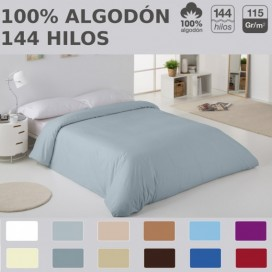 Funda nórdica COMBI LISOS. 100% algodón (144 hilos) 331-MANGO