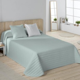 Colcha Bouti bicolor + Cojín Naturals cama hogar