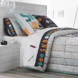 Juego sábanas estampadas SKATE JVR para la cama