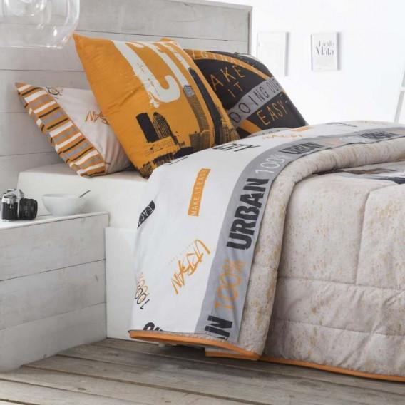 Juego sábanas estampadas URBAN JVR para la cama