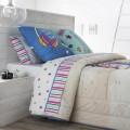 Juego sábanas estampadas CITY JVR para la cama