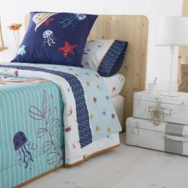 Juego sábanas infantiles CRABBY JVR para la cama